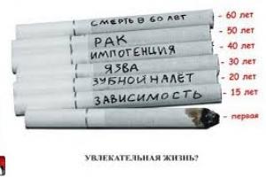 Коротко о вреде курения